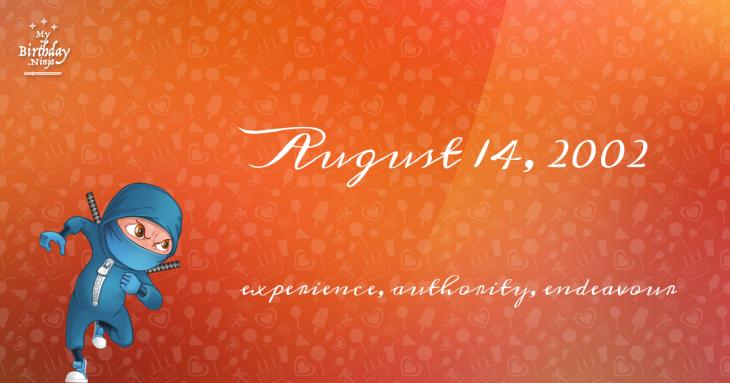 August 14, 2002 Birthday Ninja