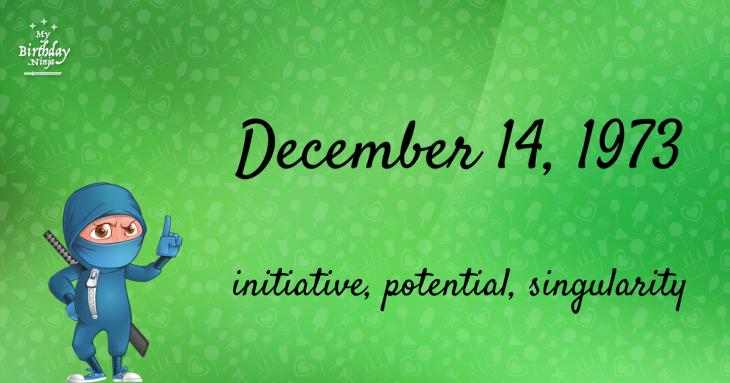 December 14, 1973 Birthday Ninja