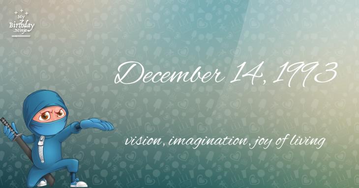 December 14, 1993 Birthday Ninja