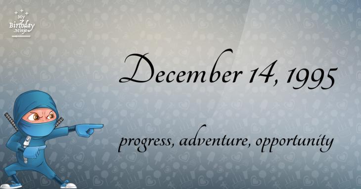 December 14, 1995 Birthday Ninja