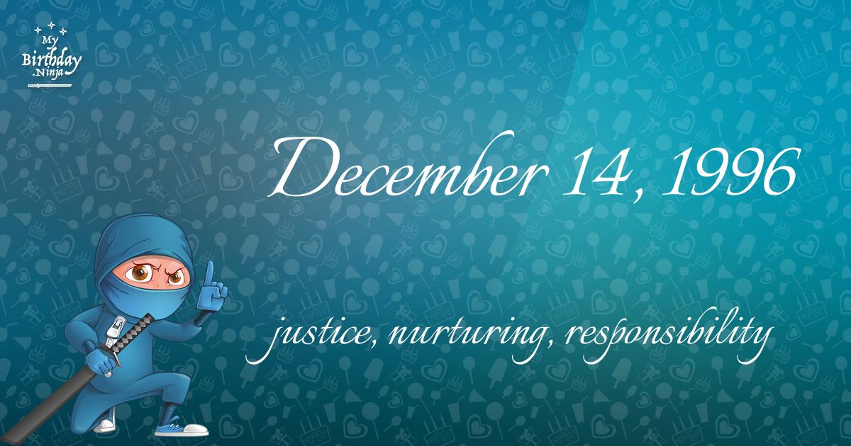 December 14, 1996 Birthday Ninja Poster
