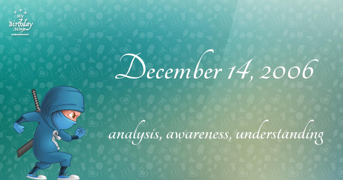 December 14, 2006 Birthday Ninja Poster