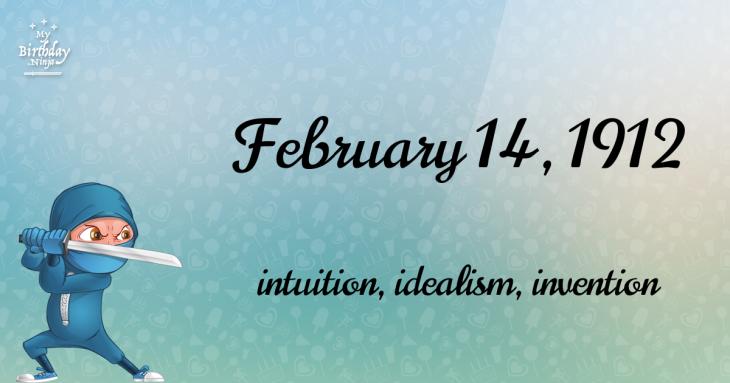February 14, 1912 Birthday Ninja