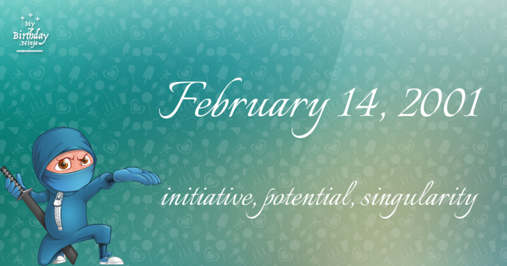 February 14, 2001 Birthday Ninja