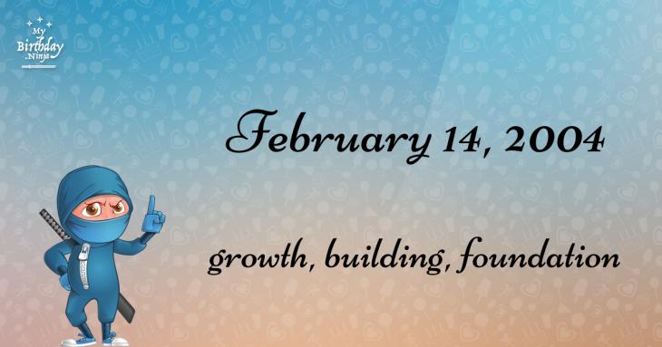 February 14, 2004 Birthday Ninja