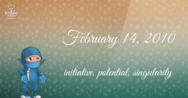 February 14, 2010 Birthday Ninja