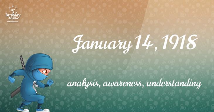 January 14, 1918 Birthday Ninja