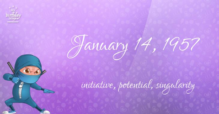 January 14, 1957 Birthday Ninja