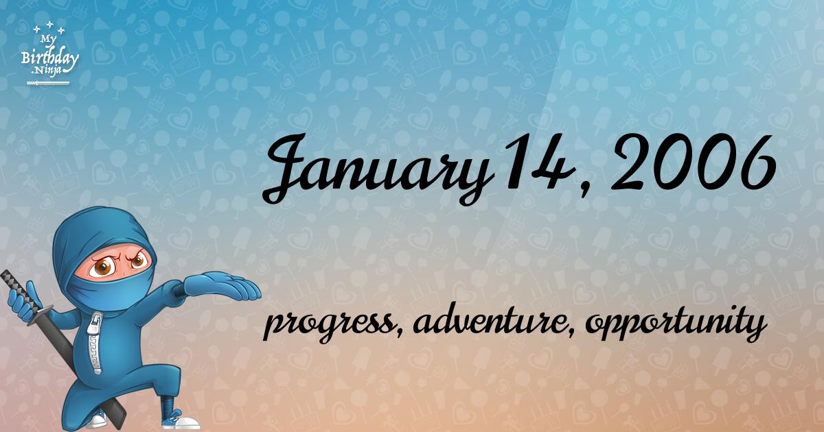January 14, 2006 Birthday Ninja Poster