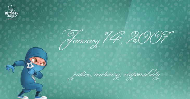 January 14, 2007 Birthday Ninja