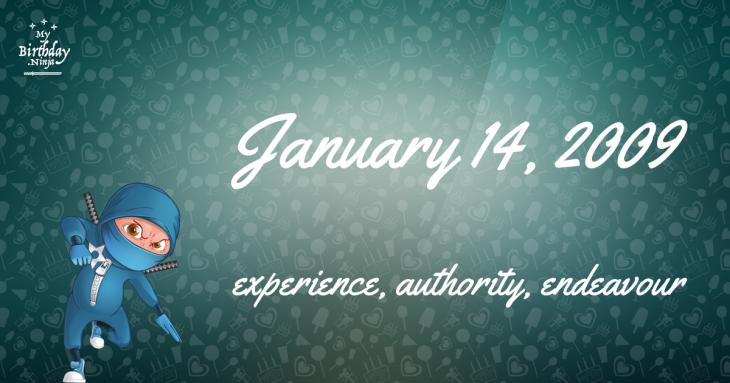 January 14, 2009 Birthday Ninja