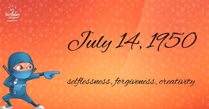 July 14, 1950 Birthday Ninja