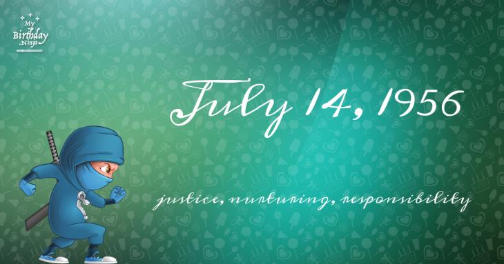 July 14, 1956 Birthday Ninja