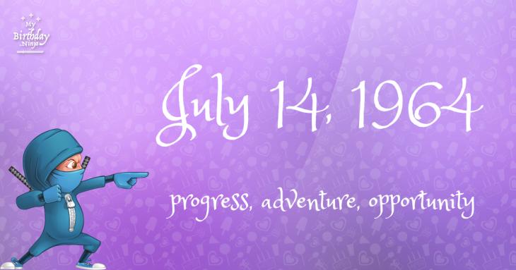 July 14, 1964 Birthday Ninja