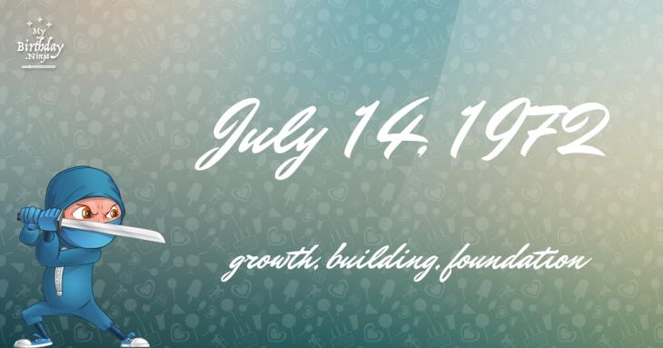July 14, 1972 Birthday Ninja