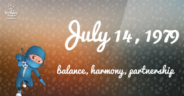 July 14, 1979 Birthday Ninja