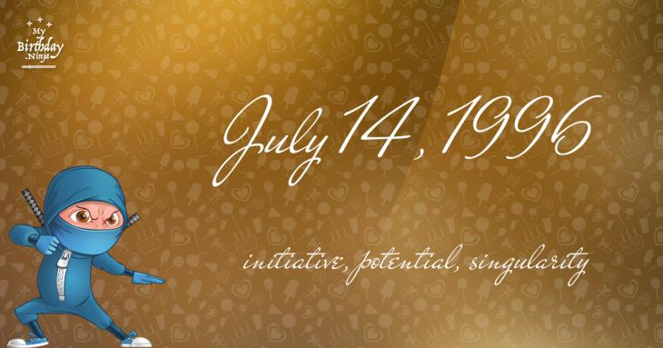 July 14, 1996 Birthday Ninja