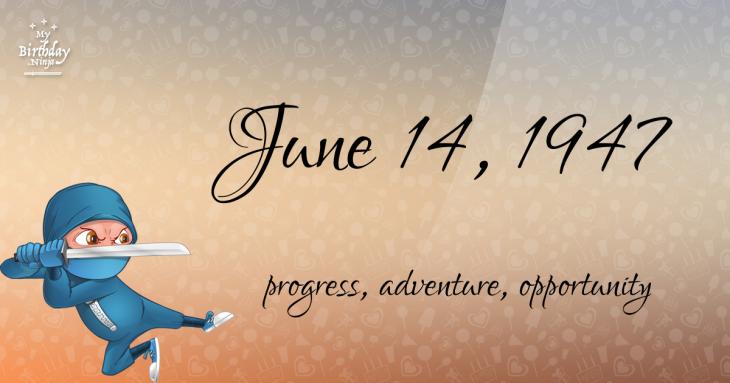 June 14, 1947 Birthday Ninja