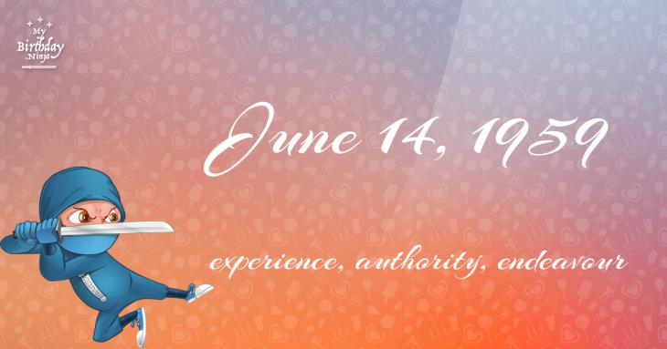 June 14, 1959 Birthday Ninja
