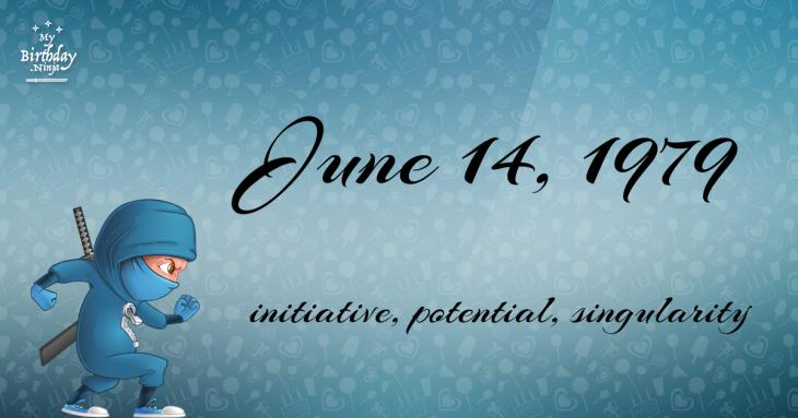 June 14, 1979 Birthday Ninja
