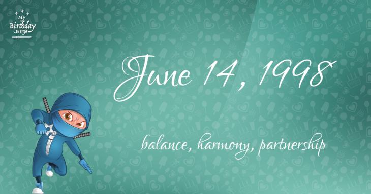 June 14, 1998 Birthday Ninja