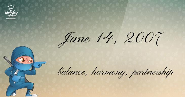June 14, 2007 Birthday Ninja