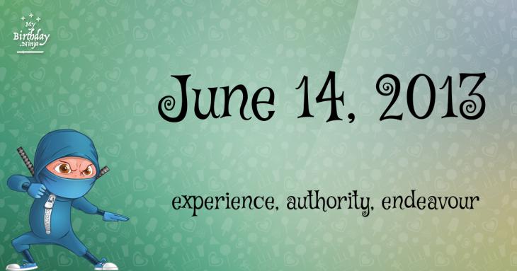 June 14, 2013 Birthday Ninja