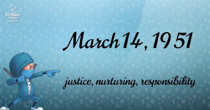 March 14, 1951 Birthday Ninja