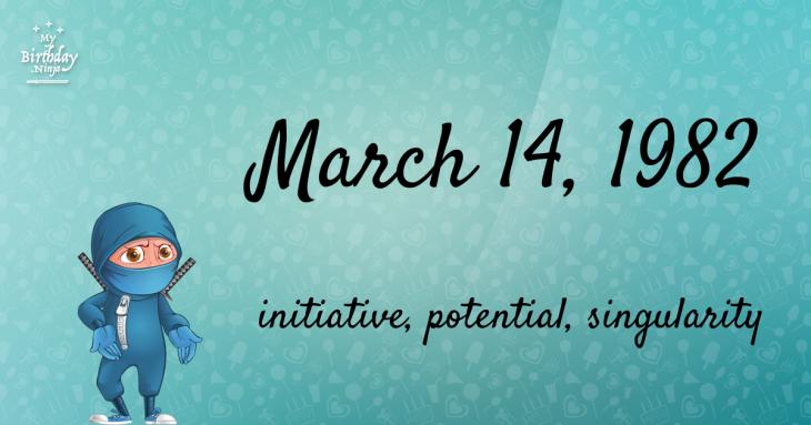 March 14, 1982 Birthday Ninja