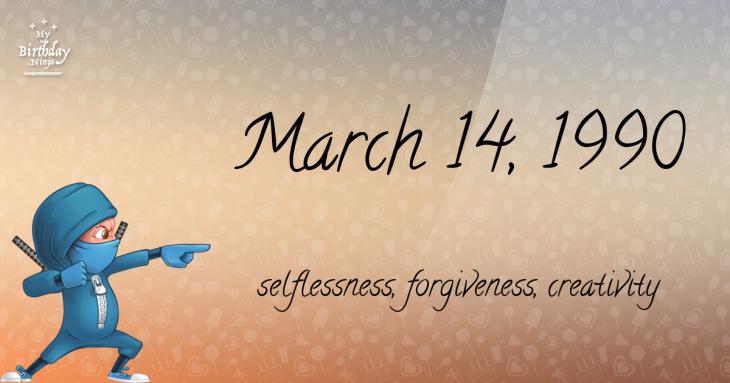 March 14, 1990 Birthday Ninja