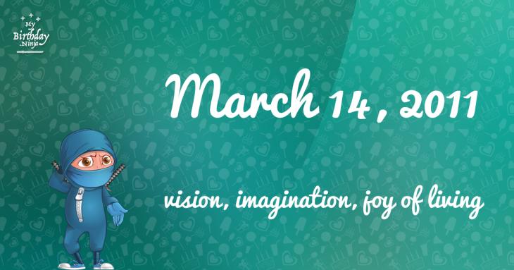 March 14, 2011 Birthday Ninja