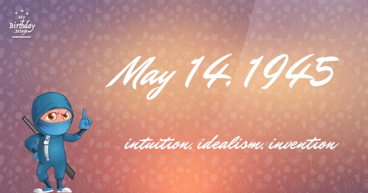 May 14, 1945 Birthday Ninja