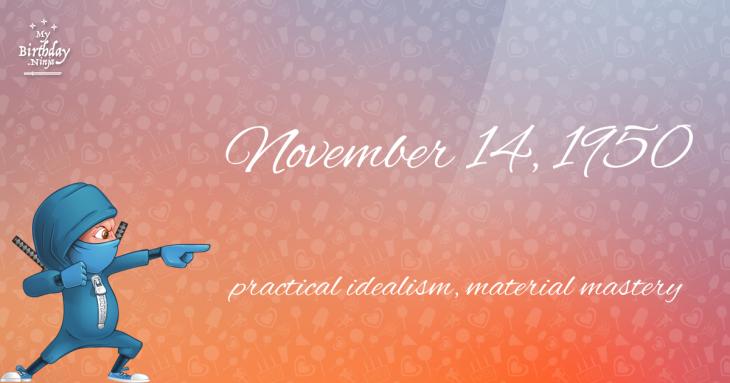 November 14, 1950 Birthday Ninja
