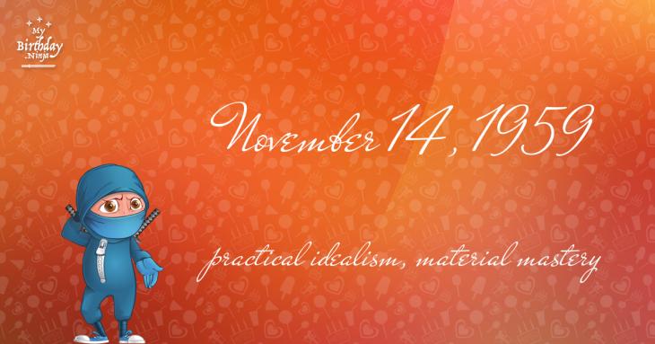 November 14, 1959 Birthday Ninja