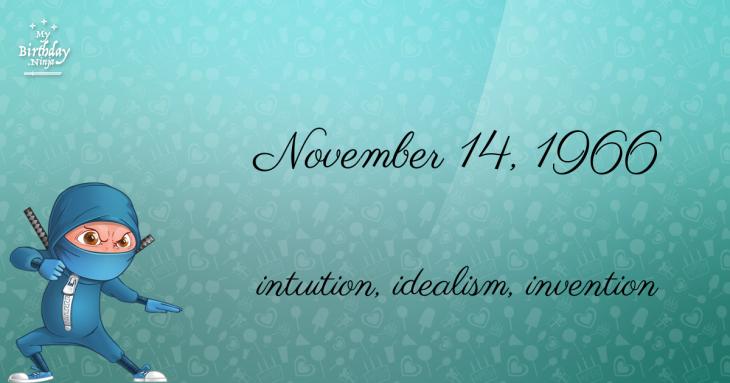 November 14, 1966 Birthday Ninja