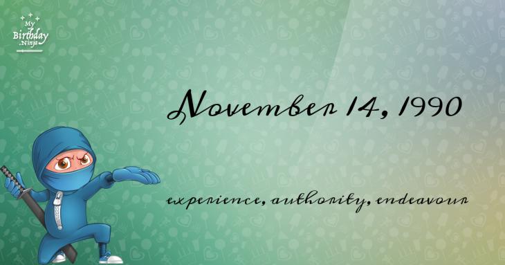 November 14, 1990 Birthday Ninja