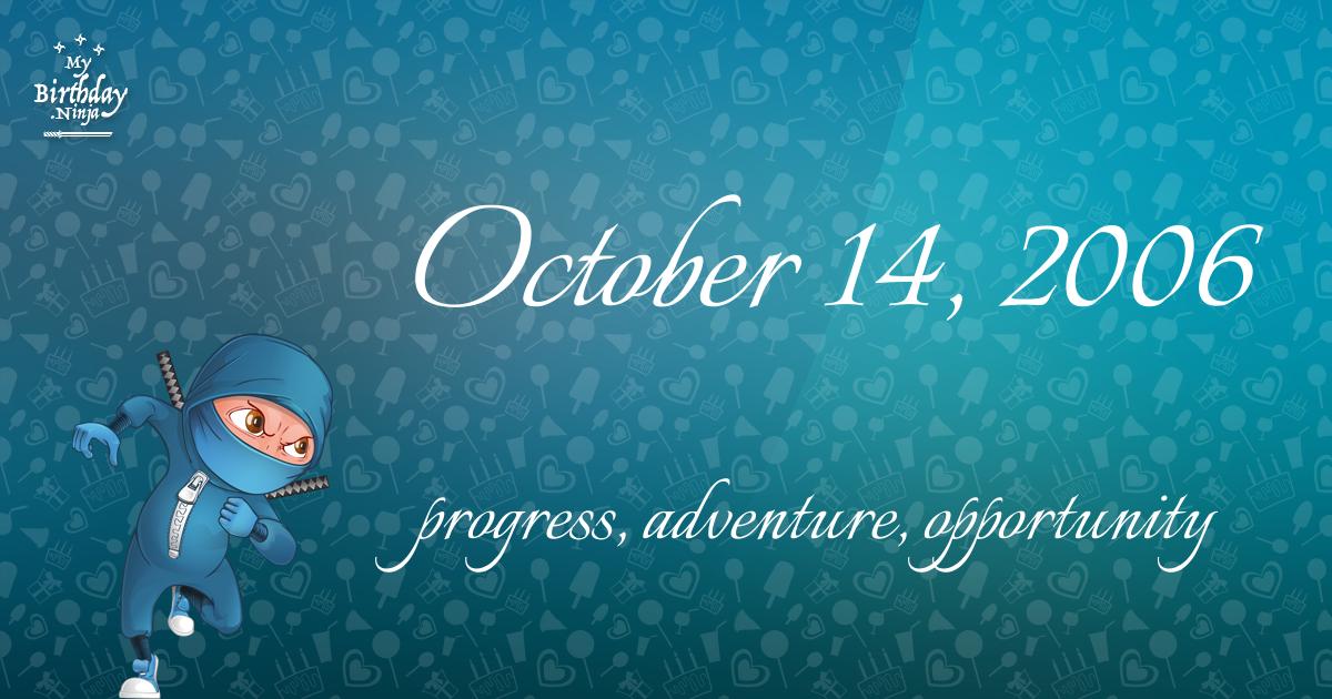 October 14, 2006 Birthday Ninja Poster