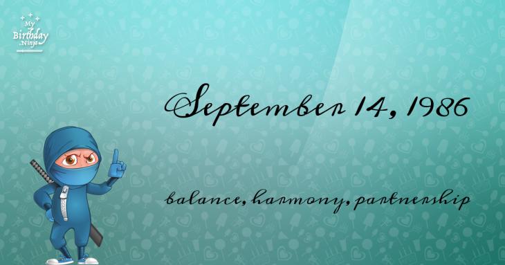 September 14, 1986 Birthday Ninja