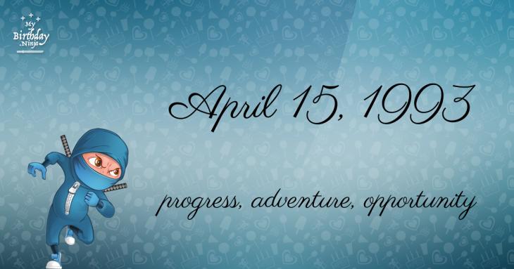 April 15, 1993 Birthday Ninja