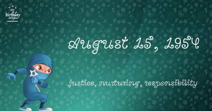 August 15, 1954 Birthday Ninja