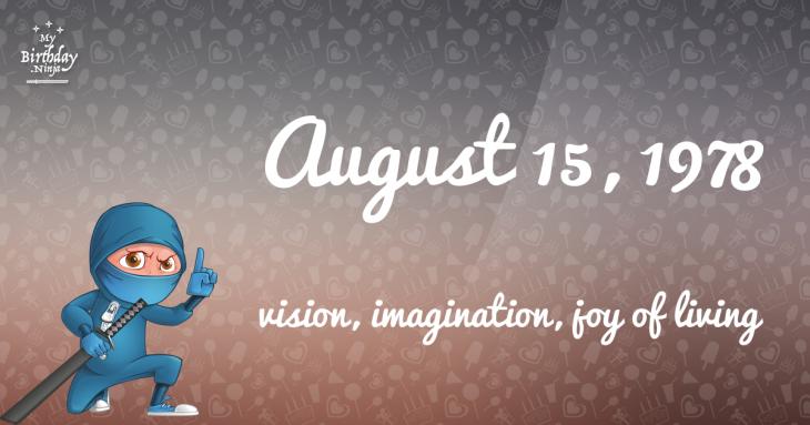 August 15, 1978 Birthday Ninja