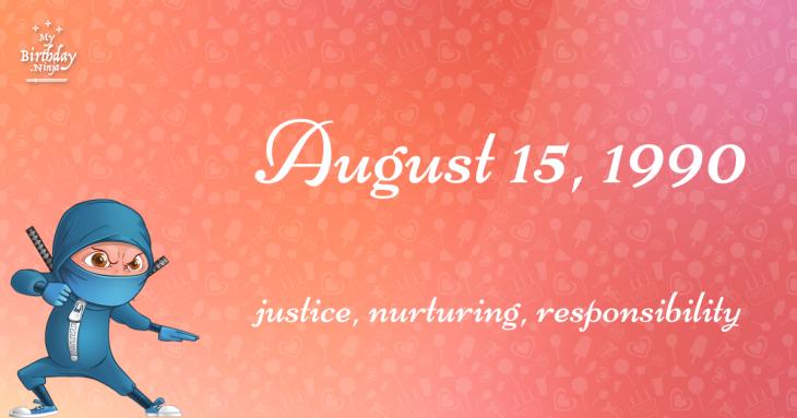 August 15, 1990 Birthday Ninja