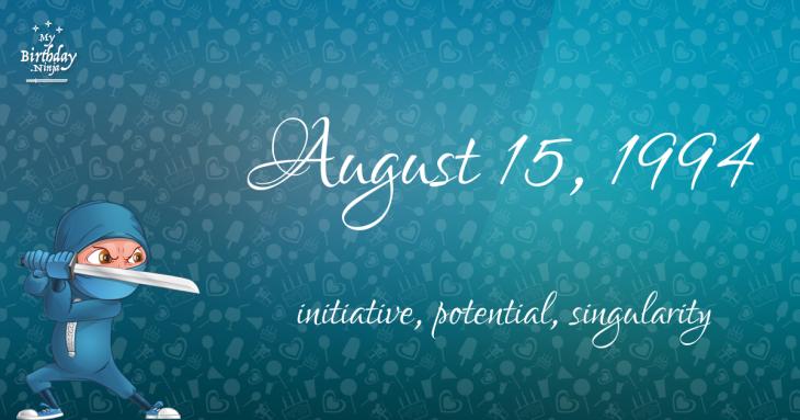 August 15, 1994 Birthday Ninja