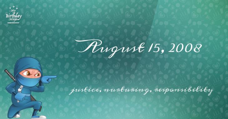 August 15, 2008 Birthday Ninja