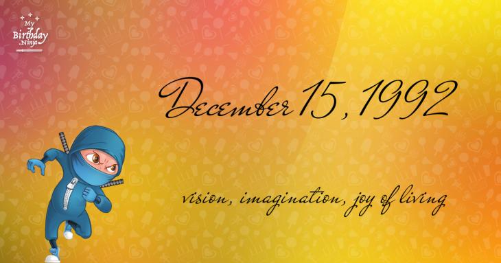 December 15, 1992 Birthday Ninja