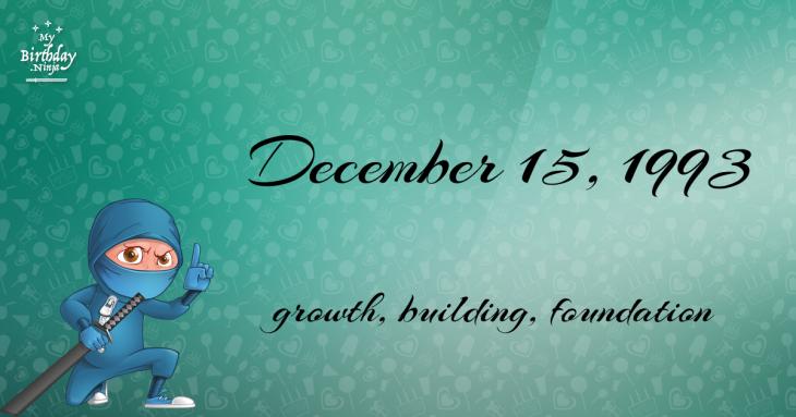 December 15, 1993 Birthday Ninja