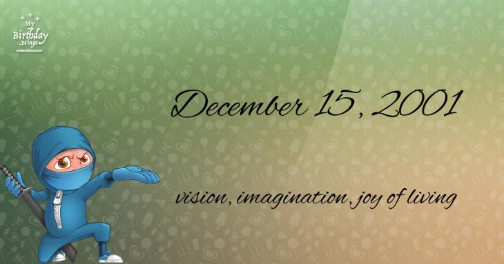 December 15, 2001 Birthday Ninja