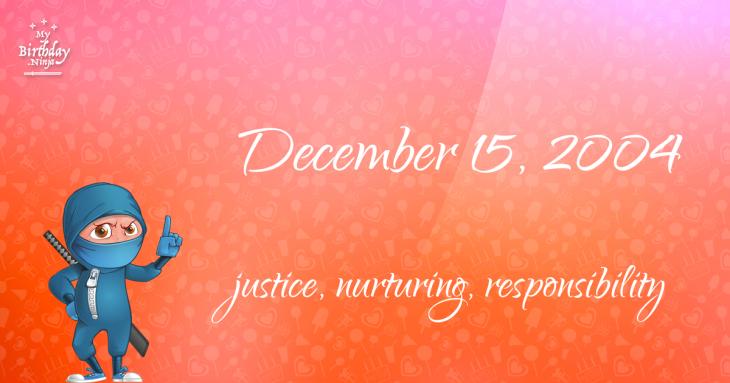 December 15, 2004 Birthday Ninja