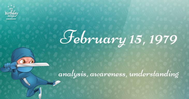 February 15, 1979 Birthday Ninja
