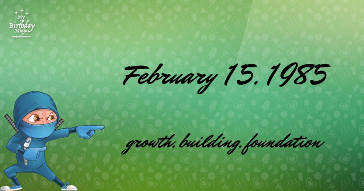 February 15, 1985 Birthday Ninja